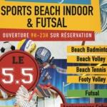 Logo du spot 84 - Orange - Le 5.5  Sports beach indoor